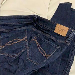 A&F size 26 navy skinny jeans